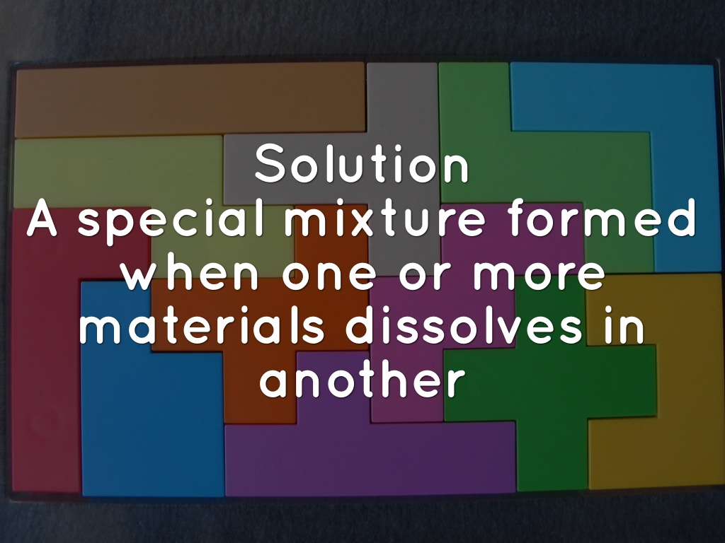Mixtures Amp Solutions By Maria Hocker