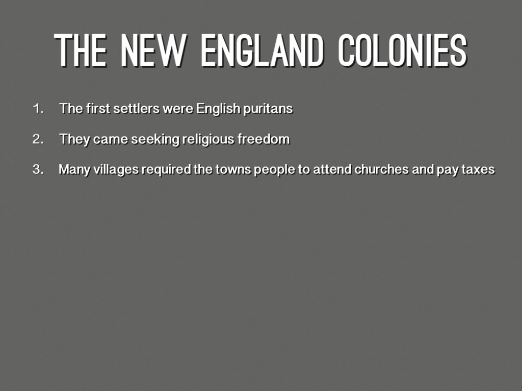 The 13 Colonies Religion And Facts And Ect By Jameson