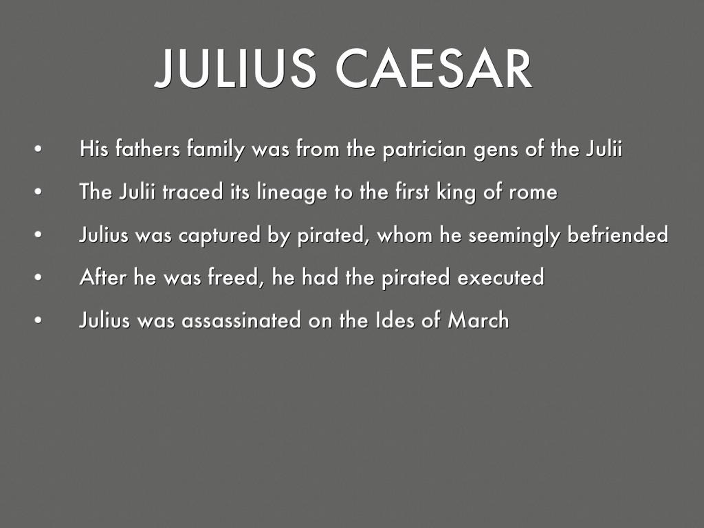 Julius Caesar Characters By Vignois