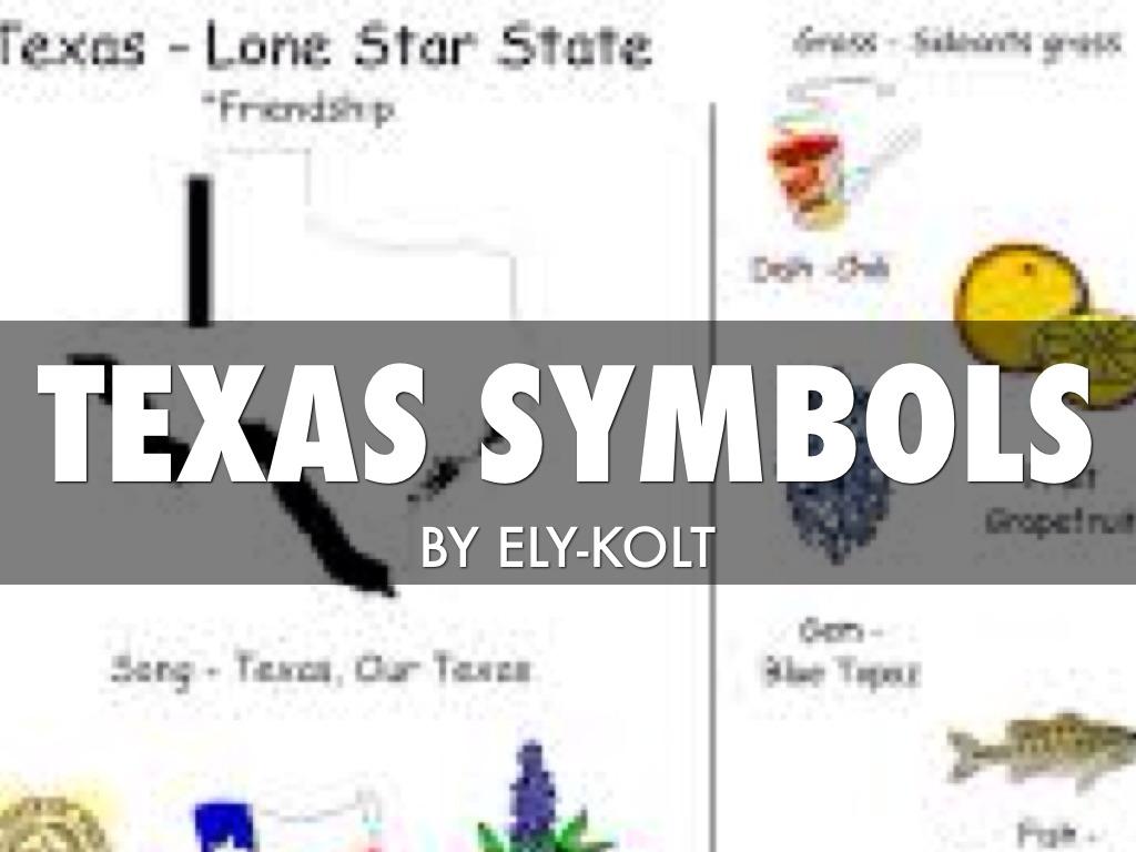 Texas Symbols By Connie Thompson