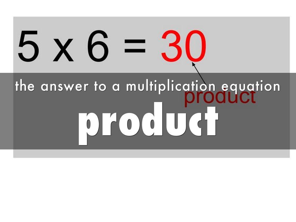 Multiplication Vocabulary By Biversen