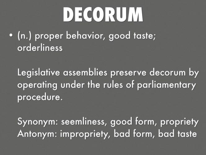 Proper Decorum Synonym Home Decore Inspiration Decoration Decor Ideas
