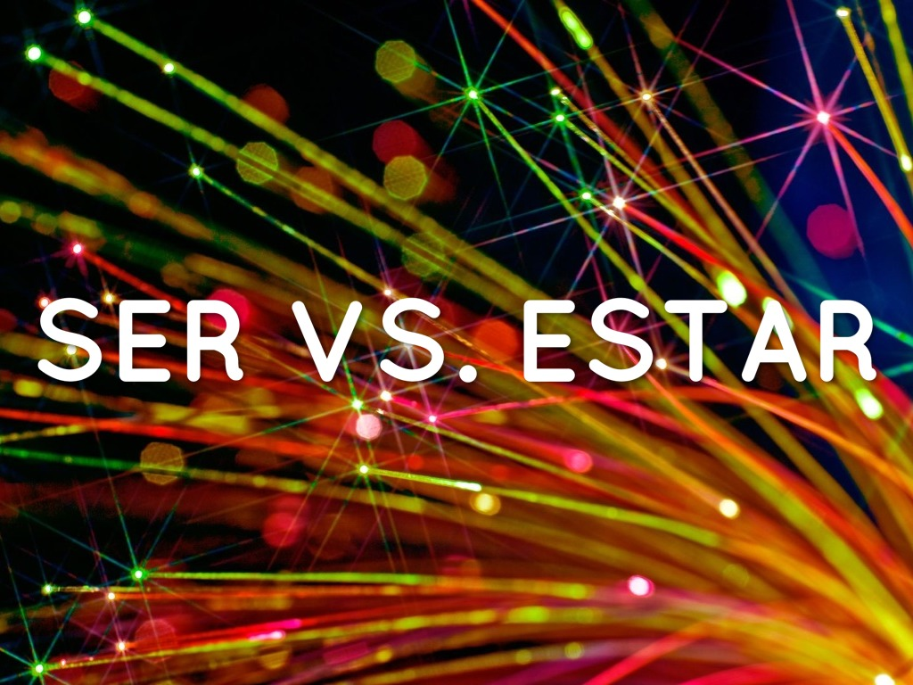 Ser Vs Estar With Hay And Tener By Rml