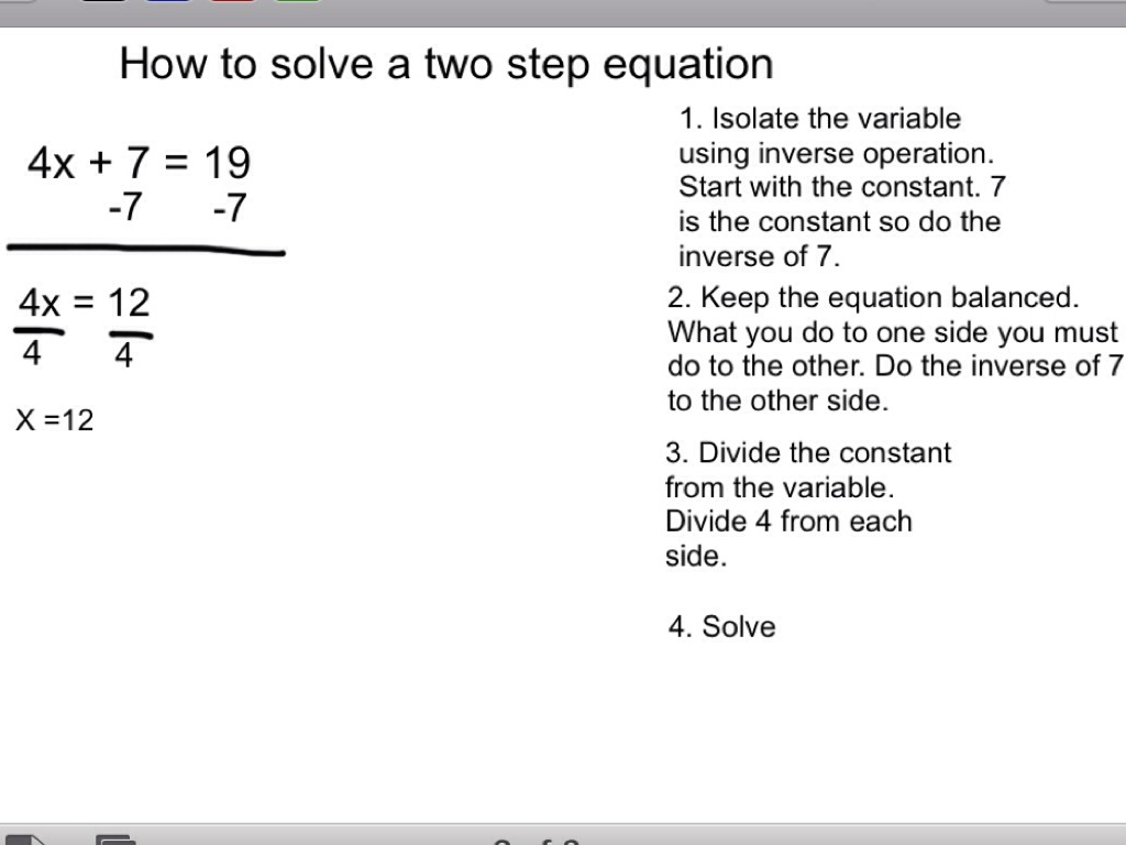 Worksheet One And Two Step Equations Grass Fedjp Worksheet Study Site