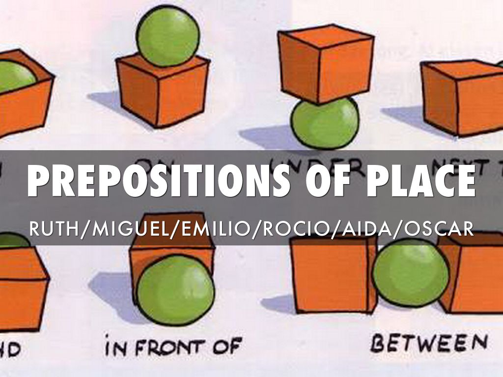 Prepositions Of Place By Oscar Zamarripa Del Moral
