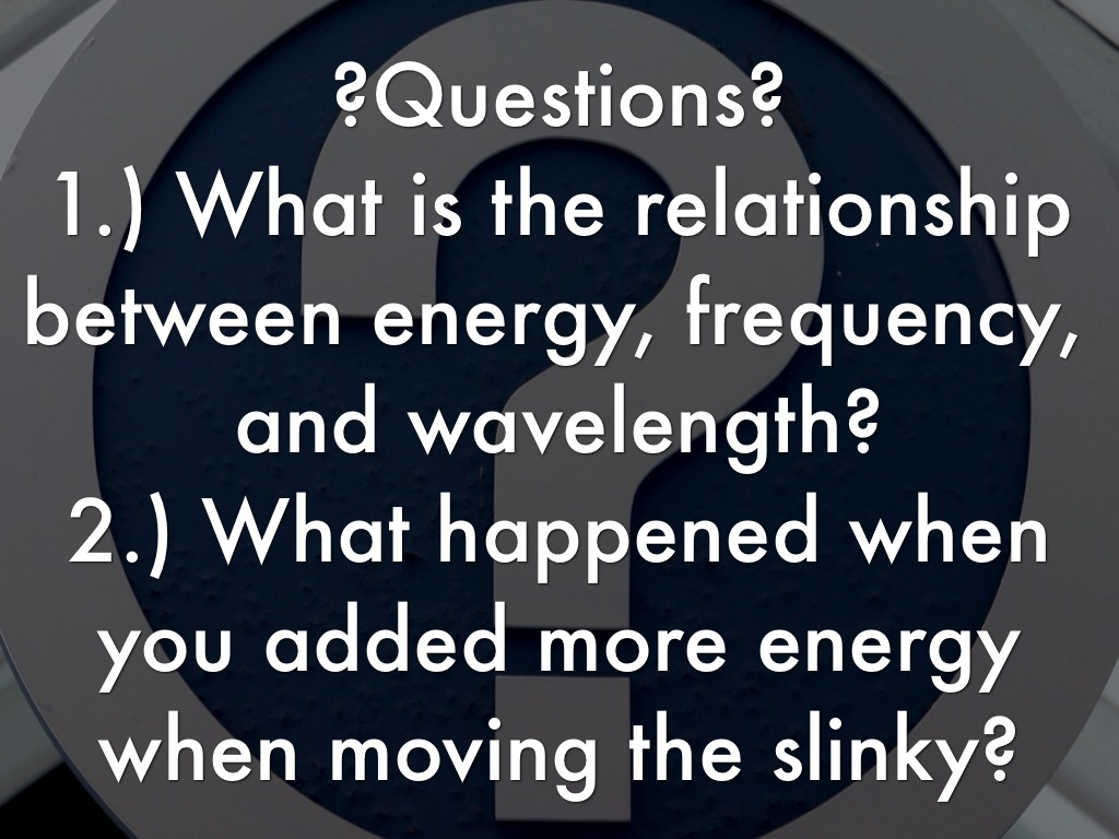 Energy Wavelength And Frequency By Amy