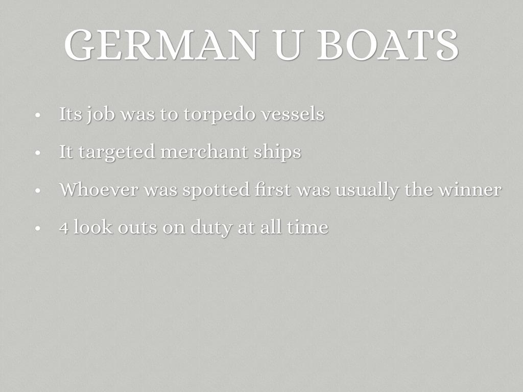 German U Boats by laneylulu09
