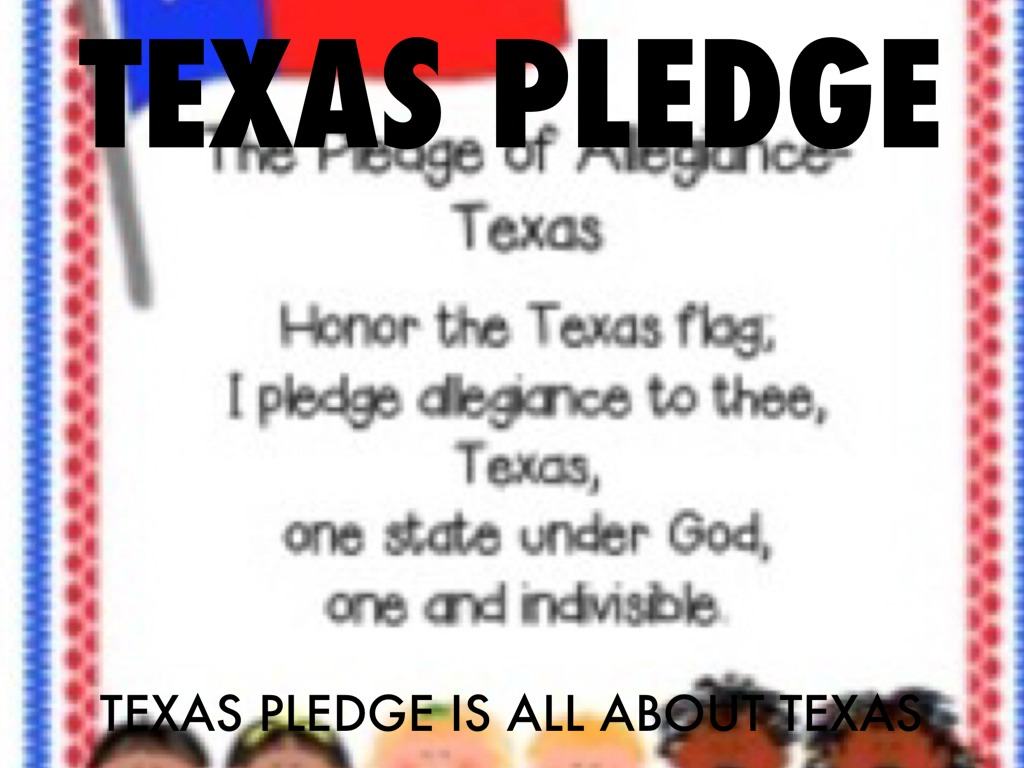 Texas Pledge Printable That Are Epic