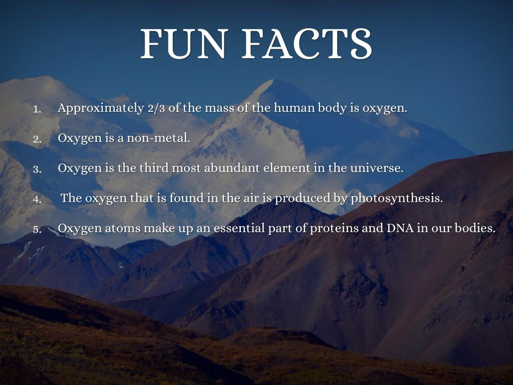 Oxygen Oxygen Element Facts
