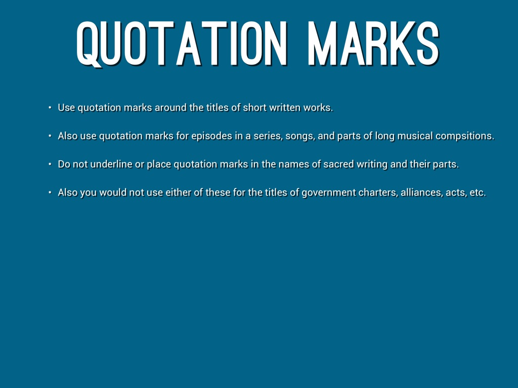 Quotation Marks By Marty Lundy