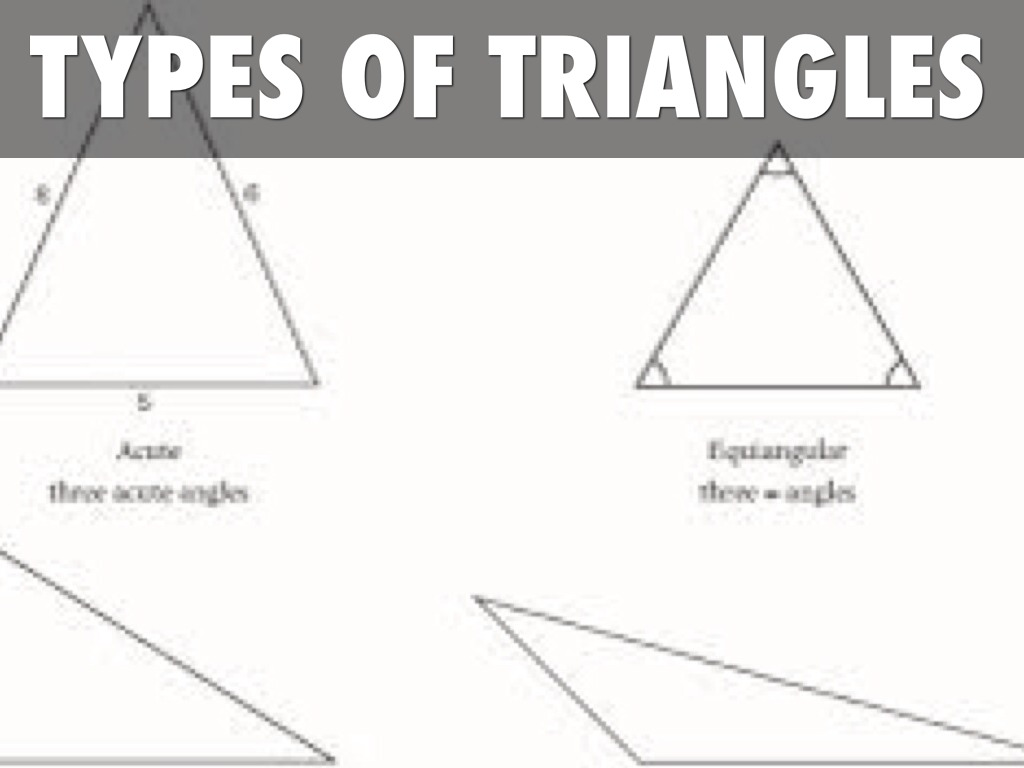 Types Of Triangles By Michael Day
