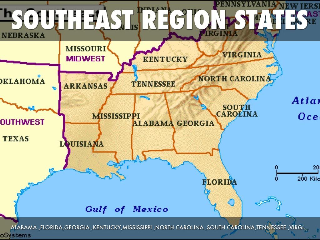 Us Southeast Region Worksheet