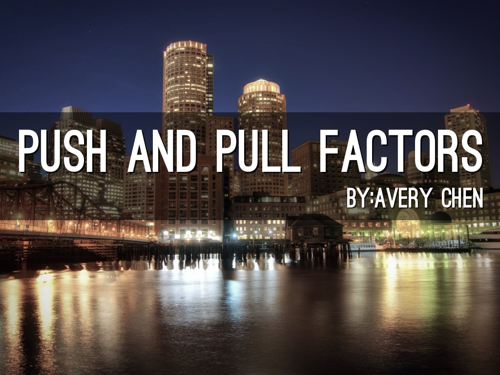 Push And Pull Factors By Avery C