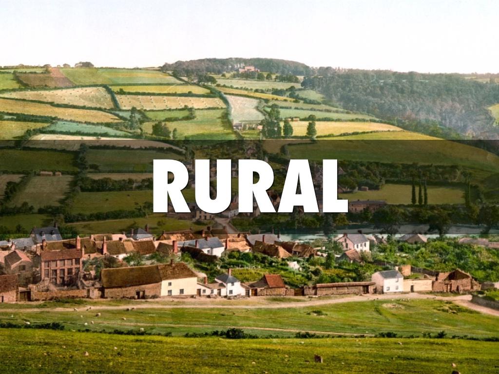 Rural Vs Urban By Alix Schmidt
