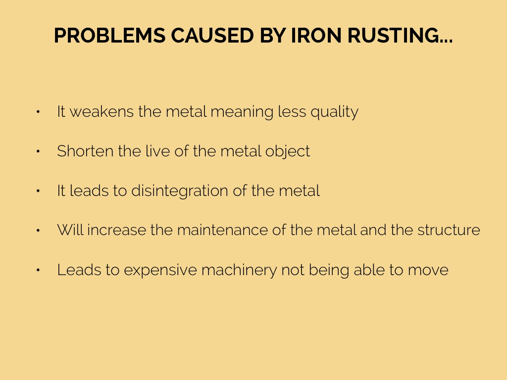 Equation For Rusting Of Iron