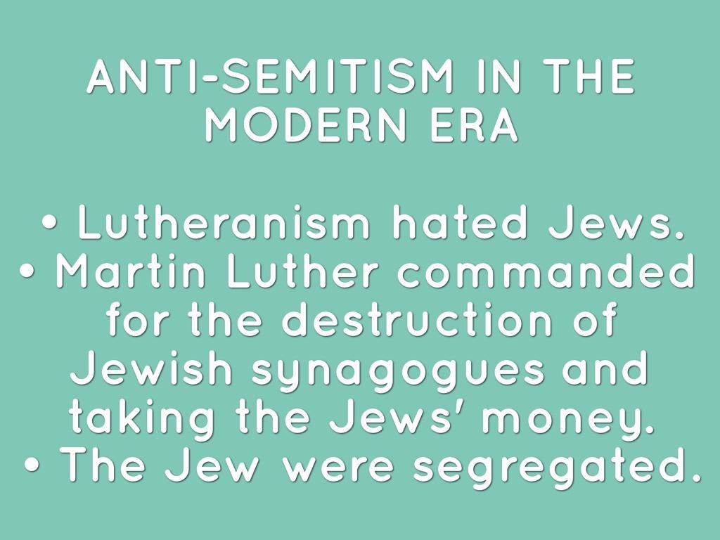 Antisemitism By Fiona