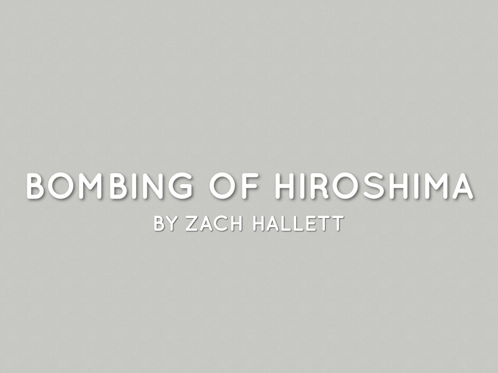 Ing Of Hiroshima By Hallettck