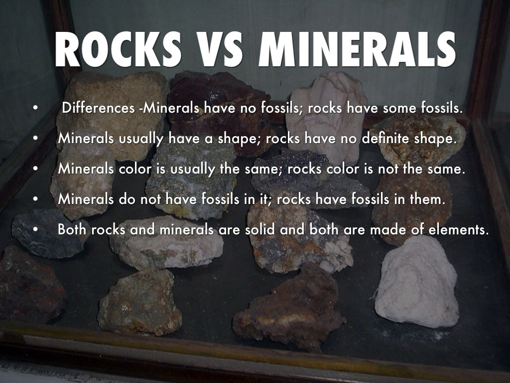 Rocks And Minerals Project By Muhkha