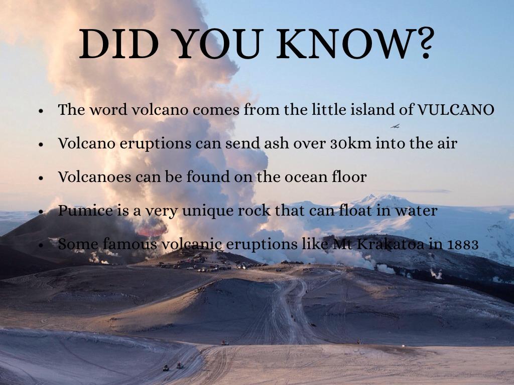 Volcanoes By Jaila Ellis