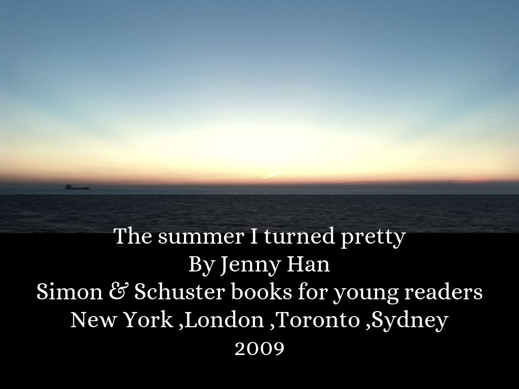 The Summer I Turned Pretty By Jenny Han Simon