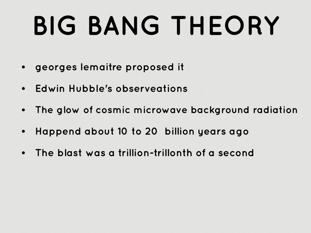 Big Bang Theory Timeline Worksheet
