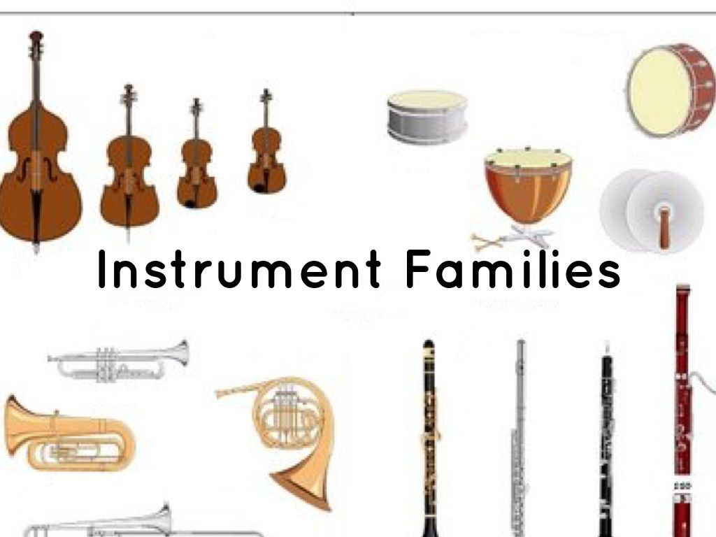 Instrument Families By Danielle Jones
