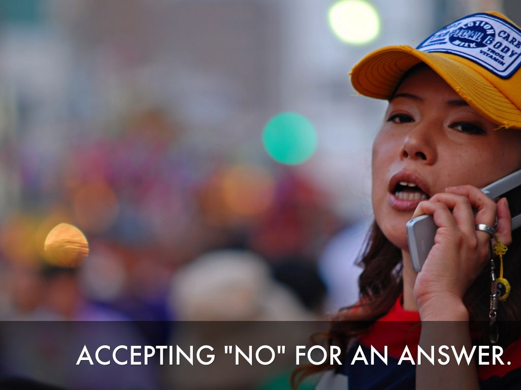 Accepting No For An Answer By John Pickar