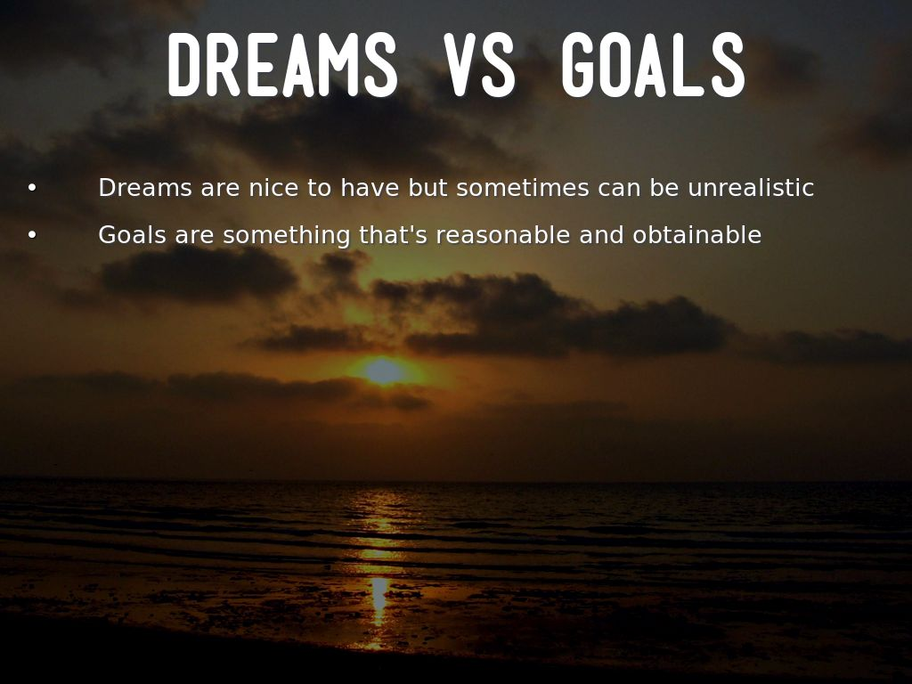 Building Dreams Setting Goals By Pierce William