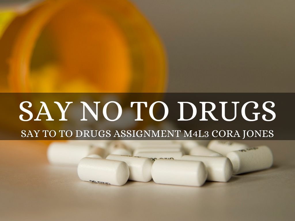 Say No To Drugs By Cora