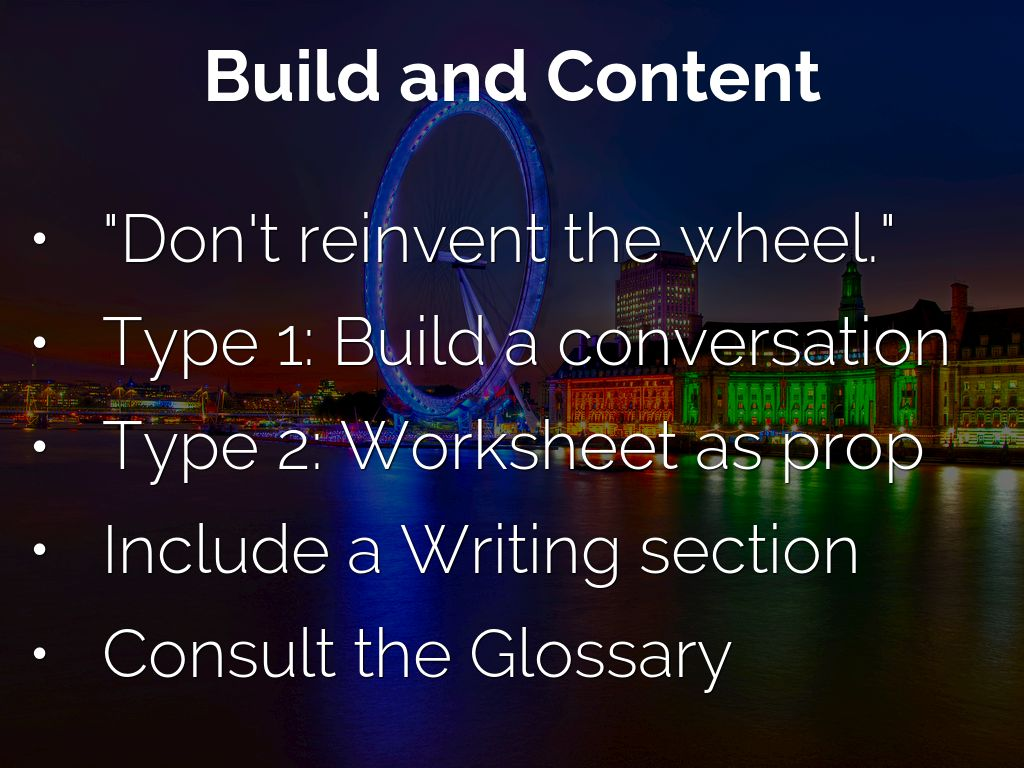 Build Amp Present Worksheets By Daryl V