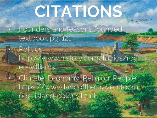 Rhode Island Colony by Karina Patel