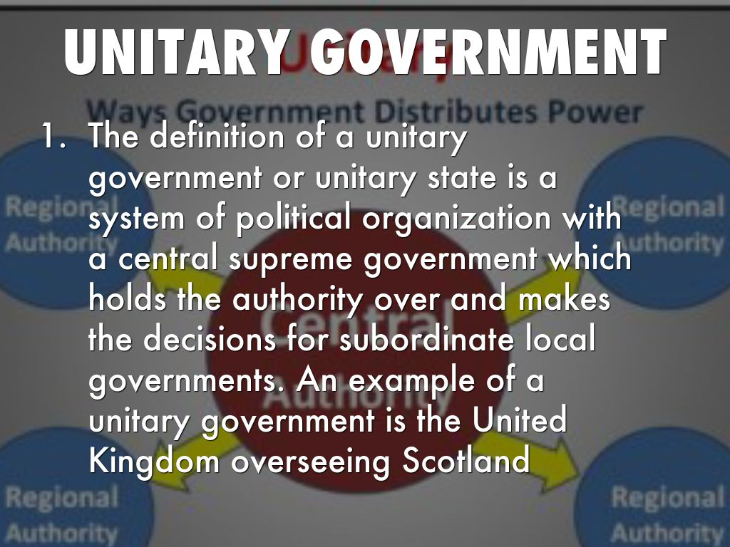 Unitary Government Examples Difference Between Unitary