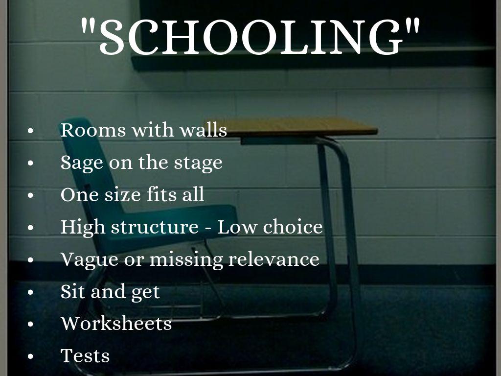 Schooling Vs Learning By Lori Whitman