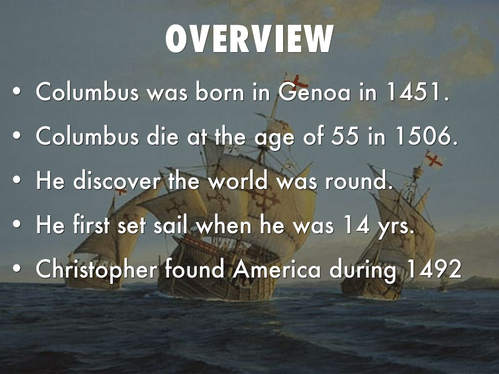 Christopher Columbus First Voyage By Gmoua