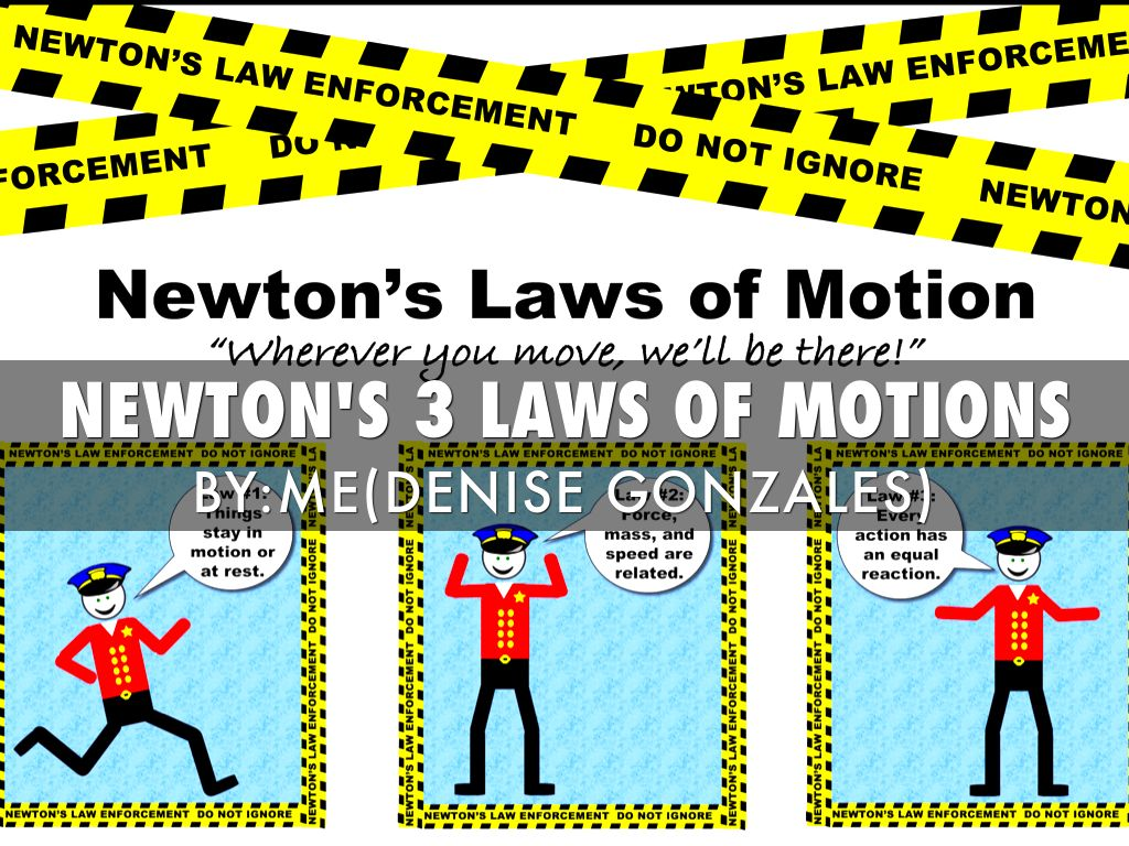 Newton S 3 Laws Of Motions By Denise Gonzales