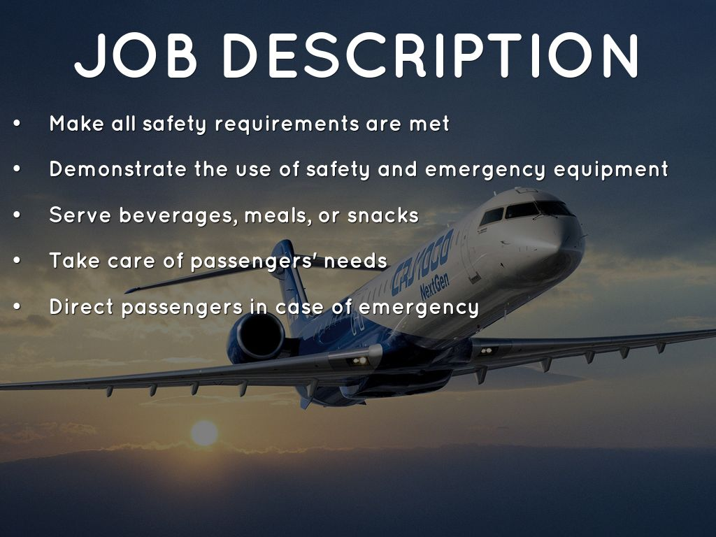 flight attendant job description