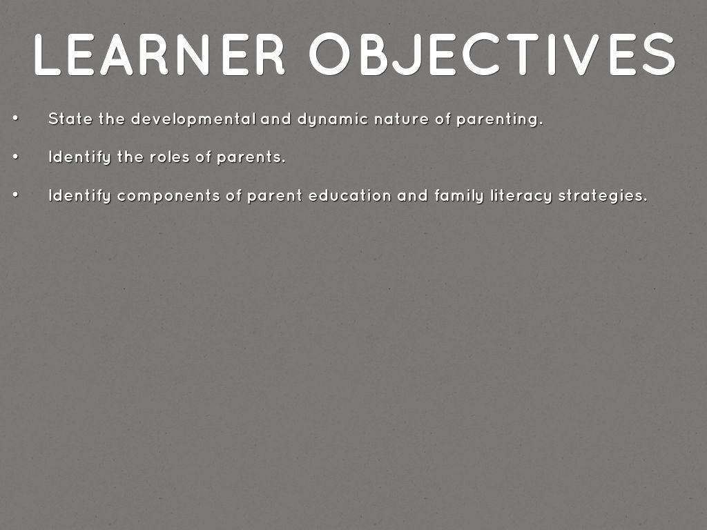 Nurtuting And Building Parternships Between Families