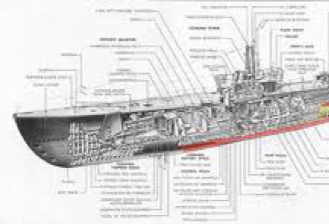 German U Boat Internal Diagram
