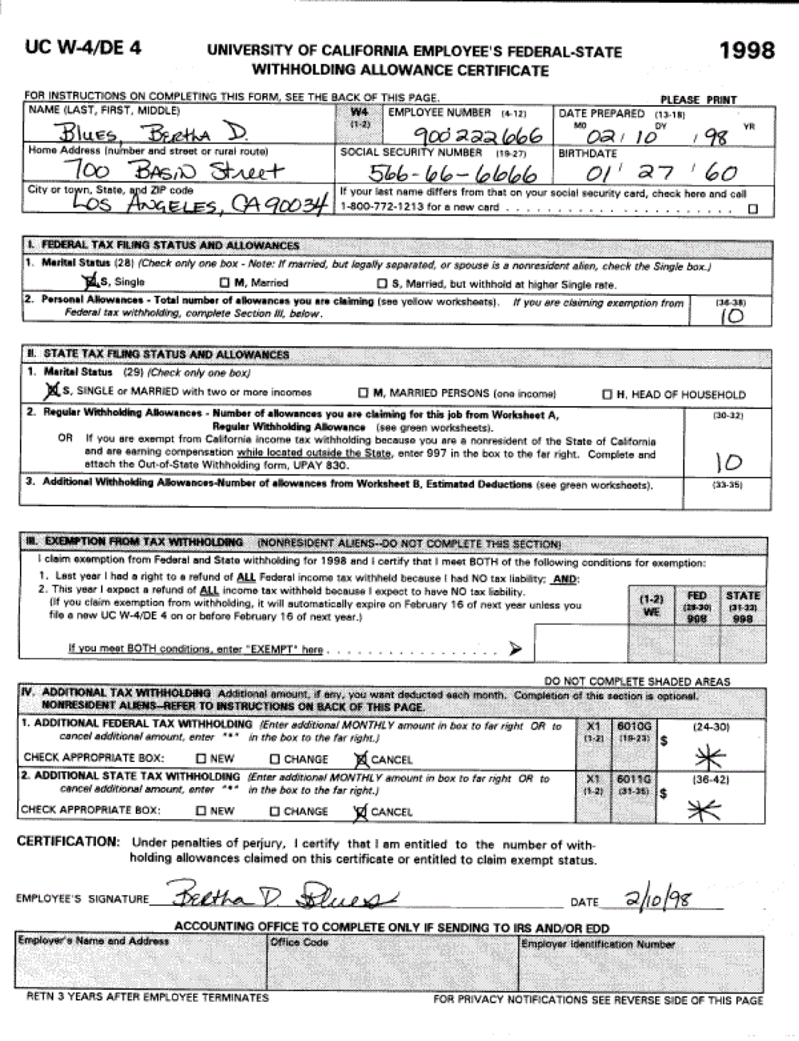 Social Security Worksheet A Print