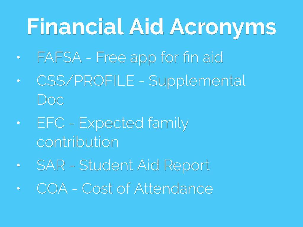 Financial Aid 101 By Sneuenschwan