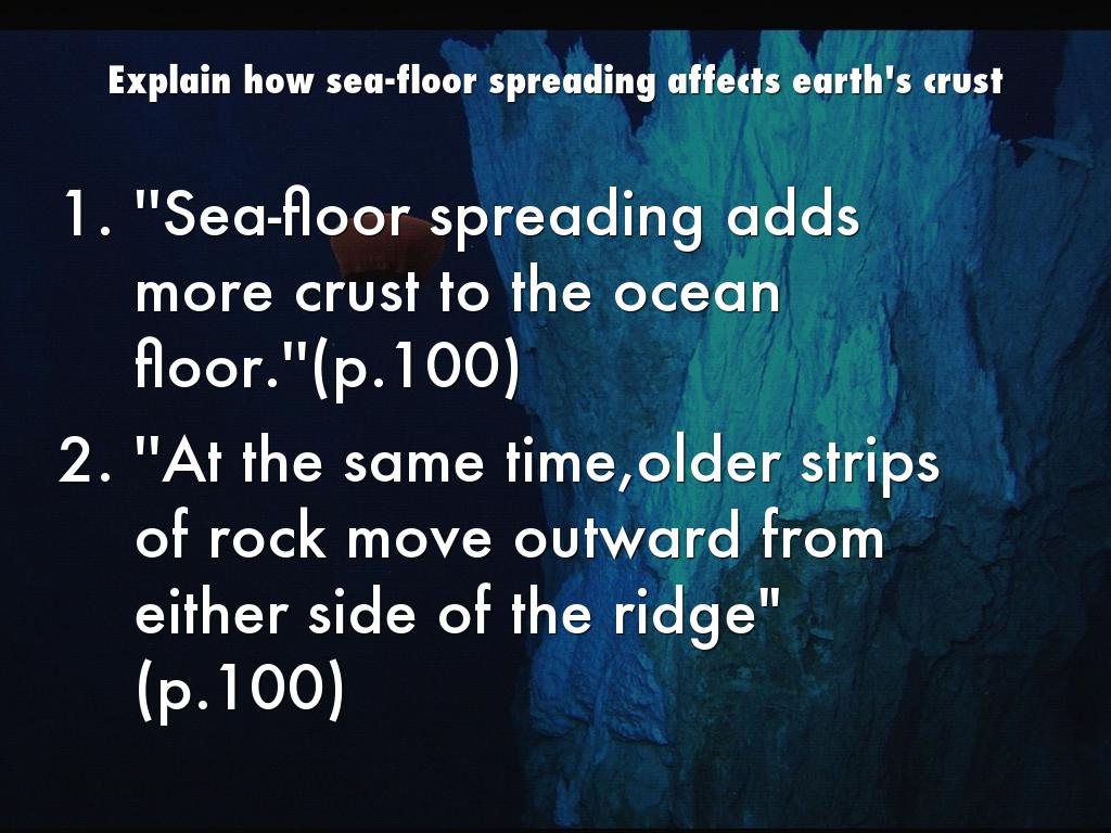 Seafloor Spreading By Keymontephillips23