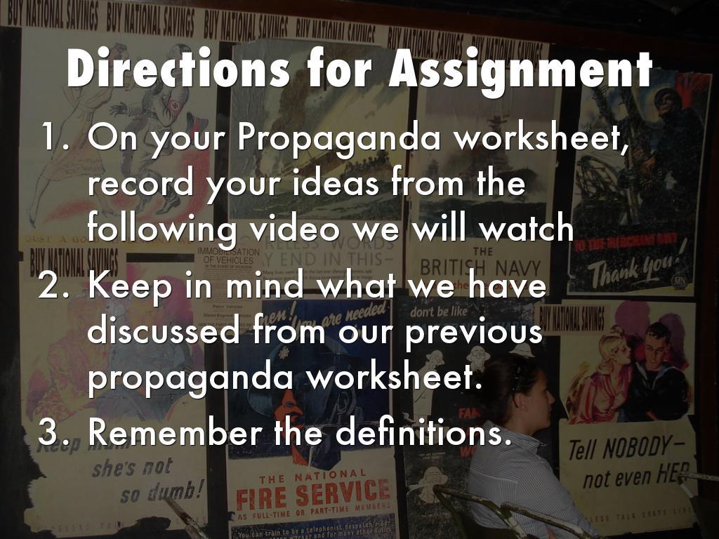 Propaganda Past And Present By Meghan Stadum