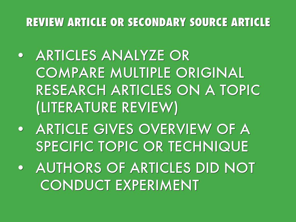 Primary Vs Secondary Sources In Stem By Raypun