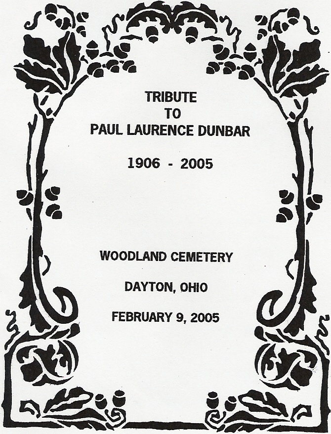 Tribute to Paul Laurence Dunbar :: Events :: Tributes