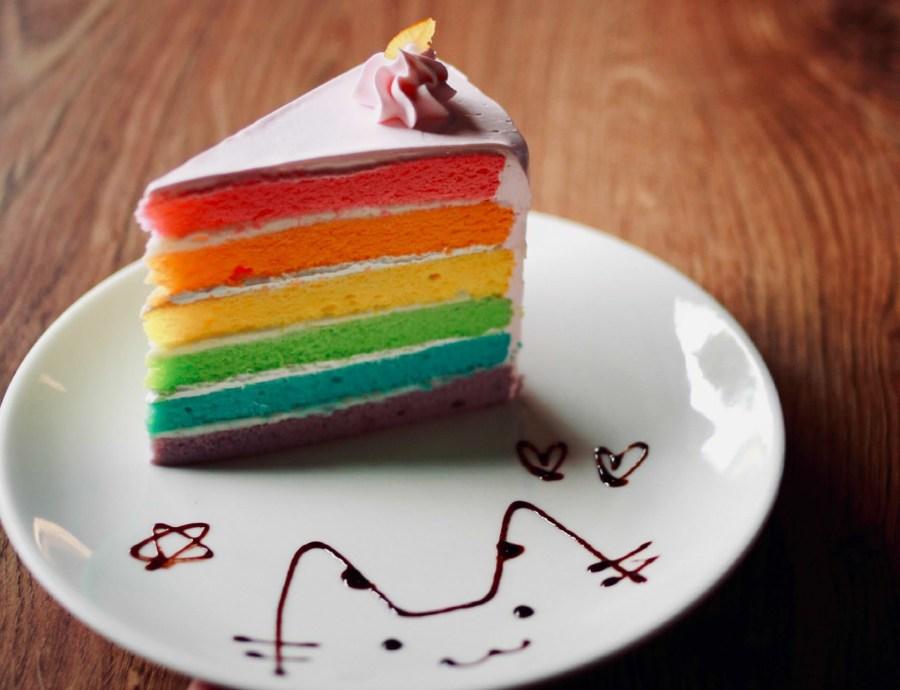 【新竹】新竹四隻貓,只有彩虹蛋糕勉強可以撐住場面