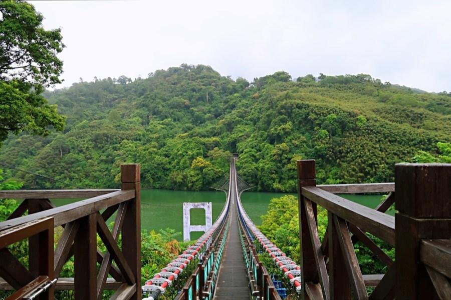 桃園旅遊景點/復興新溪口吊橋,挑戰腿力走步道才可走到全台最長的懸索橋