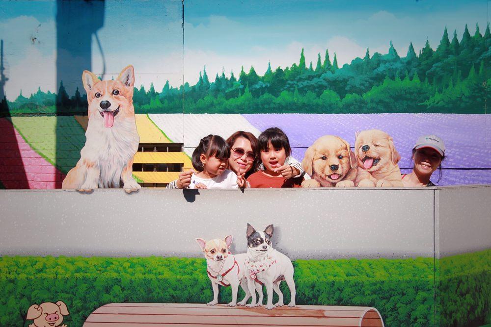 彰化旅遊景點/彰化忠權3D彩繪社區,超可愛的忠犬彩繪村,超萌超好拍