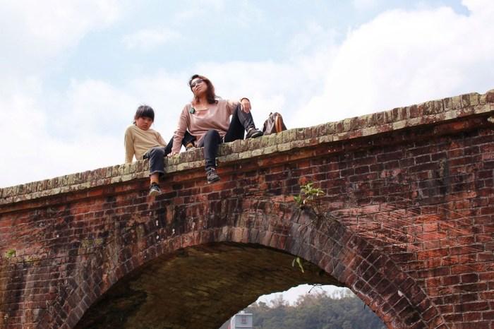 桃園旅遊景點/龍潭三坑老街、三坑自然生態公園、大平紅橋,假日親子放電的好去處