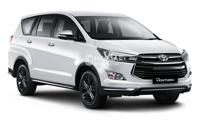 new kijang innova spesifikasi toyota yaris trd sportivo harga review venturer 2017 dan gambar mobil berwarna putih dilihat dari bagian depan