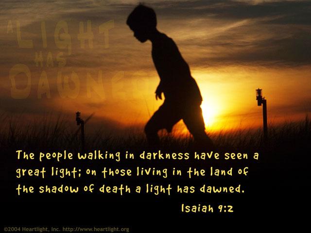 Inspirational illustration of Isaiah 9:2